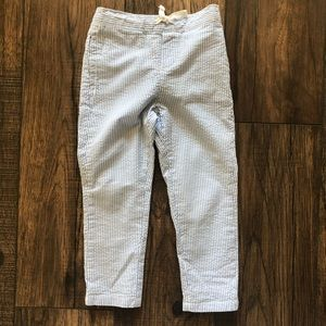 Janie and Jack Boys Blue and White Stripped Pants